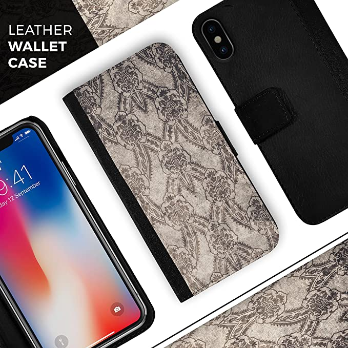 online retailer fd168 73af6 Amazon.com: Decadent Draped Damask Pattern iPhone Leather Folding ...
