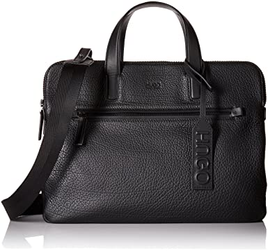 f735e84763 Amazon.com: HUGO by Hugo Boss Men's Victorian Leather Workbag, Black ...