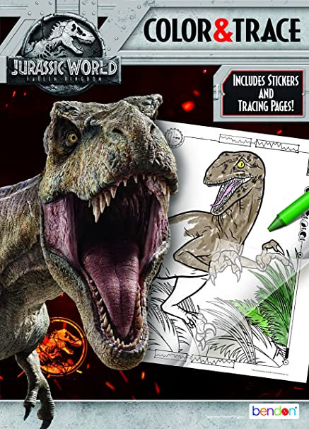 Bendon 43320 Color And Trace Jurassic World Fallen Kingdom