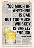 Amazon Price History for:Whiskey is Barely Enough - Mark Twain Quote - Dictionary Page Print - 8x11 - UNFRAMED