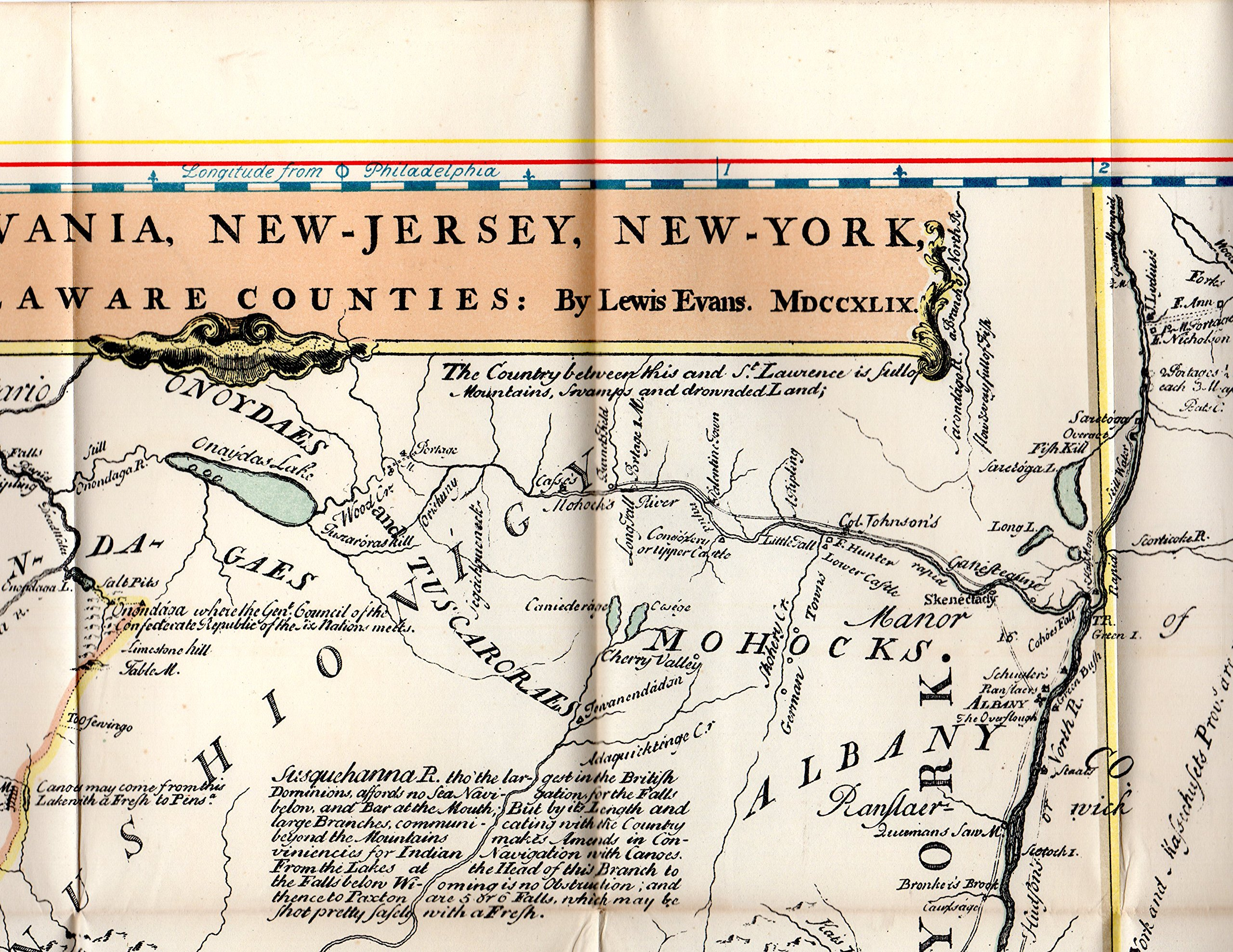 Map A Map Of Pensilvania New Jersey New York And The Three