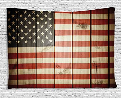 amazon com ambesonne american flag decor tapestry usa flag over