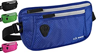 São Roque Flache Bauchtasche - Gürteltasche mit RFID Blocker – Wasserdichte Hüfttasche für Reise, Sport und Outdoor – Money Belt für Damen und Herren (Blau)