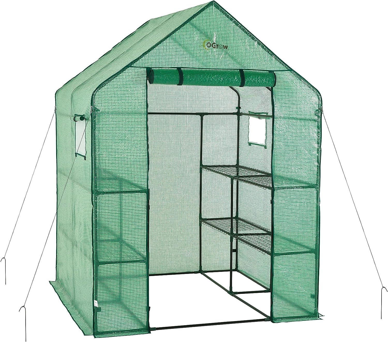 OGrow OG6868-PE Greenhouse, Green