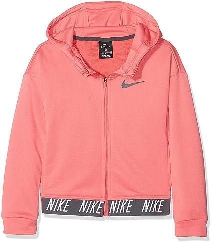 Nike 890280-823 Sudadera, Niñas, Rosa (Sea Coral/Dark Grey)