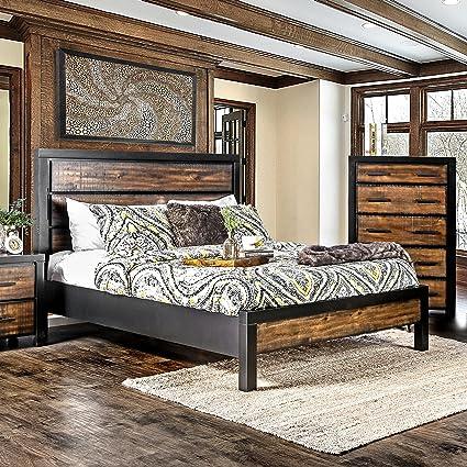 Amazon.com: Furniture of America Marson Rustic Two-Tone ...