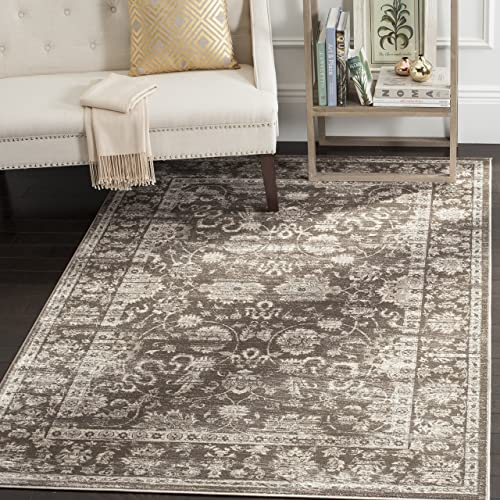 Safavieh Vintage Collection VTG430B Transitional Oriental Brown and Ivory Distressed Area Rug 6 7 x 9 2