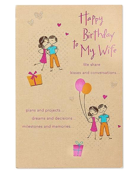 Amazon.com: Compartimos tarjeta de cumpleaños para esposa ...
