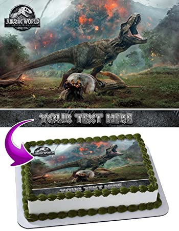 Jurassic World Fallen Kingdom Edible Image Cake Topper Personalized