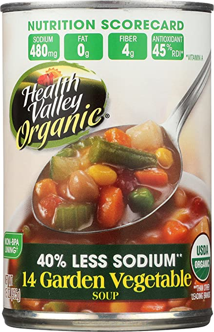 Amazon.com : Health Valley Organic Soup, Chicken Noodle, 15 Ounce (Pack of 12) : Grocery & Gourmet Food