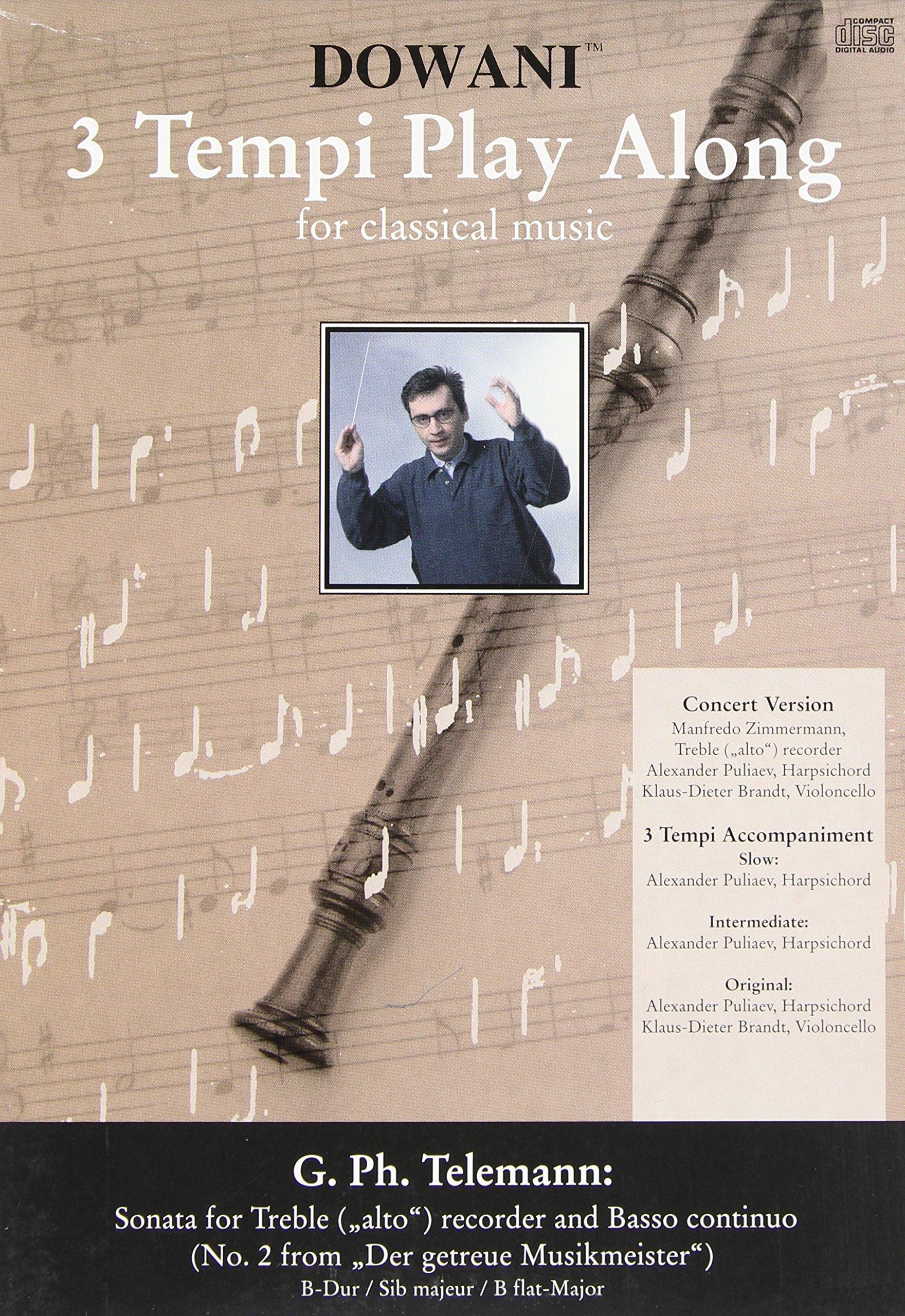 SONATA IN B FLAT MAJOR FOR TREBLE (ALTO) RECORDER AND BASSO CONTINUO OLD PKG (Dowani 3 Tempi Play Along)