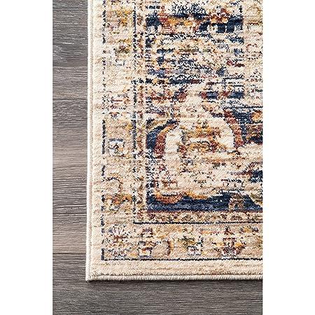 Amazon.com: nuLOOM Traditional Arabesque Area Rug, Blue, 5 ...