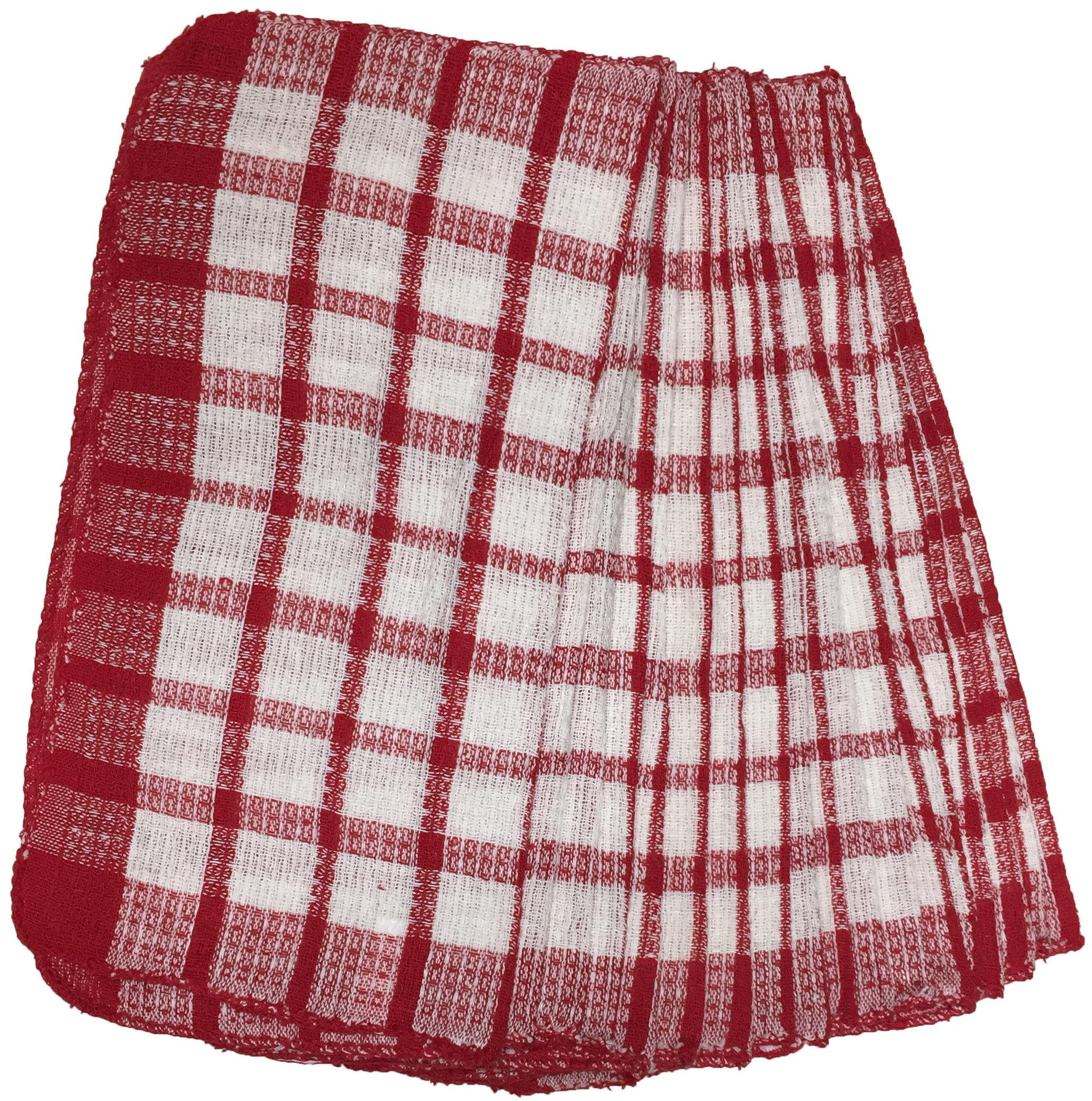 18 Pack Dish Cloths Size : 11'' x 11'' (Red)