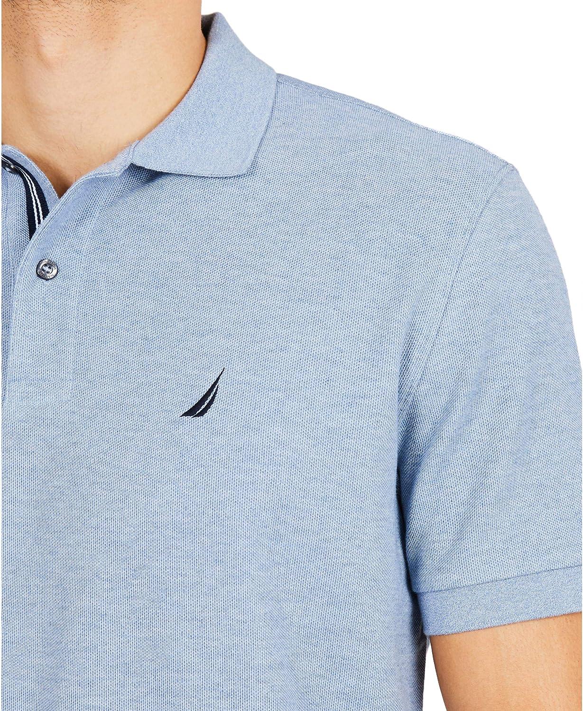 Nautica Mens Classic Short Sleeve Solid Polo Shirt