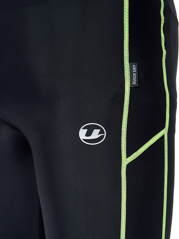 Ultrasport Herren Laufhose Windblocker Schwarz//Blau L