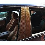 6x Carbon Blanc porte garniture B pilier pilier de porte adapté à votre véhicule