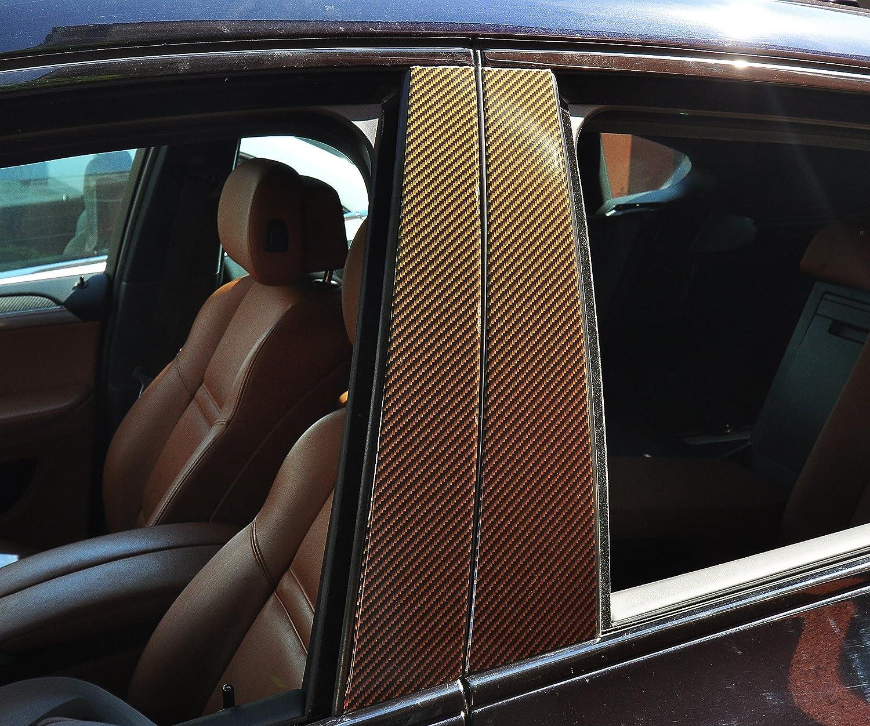 geben Sie Ihrem Fahrzeug kosteng/ünstig ein sportlichen Touch 6x Carbon schwarz T/ürzierleisten Verkleidung B S/äule T/ürs/äule passend f/ür Ihr Fahrzeug