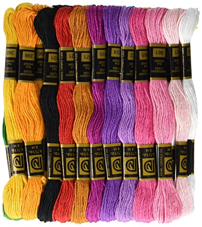 Amazon Cotton Embroidery Floss Pack 87 Yards 36pkg Pastel