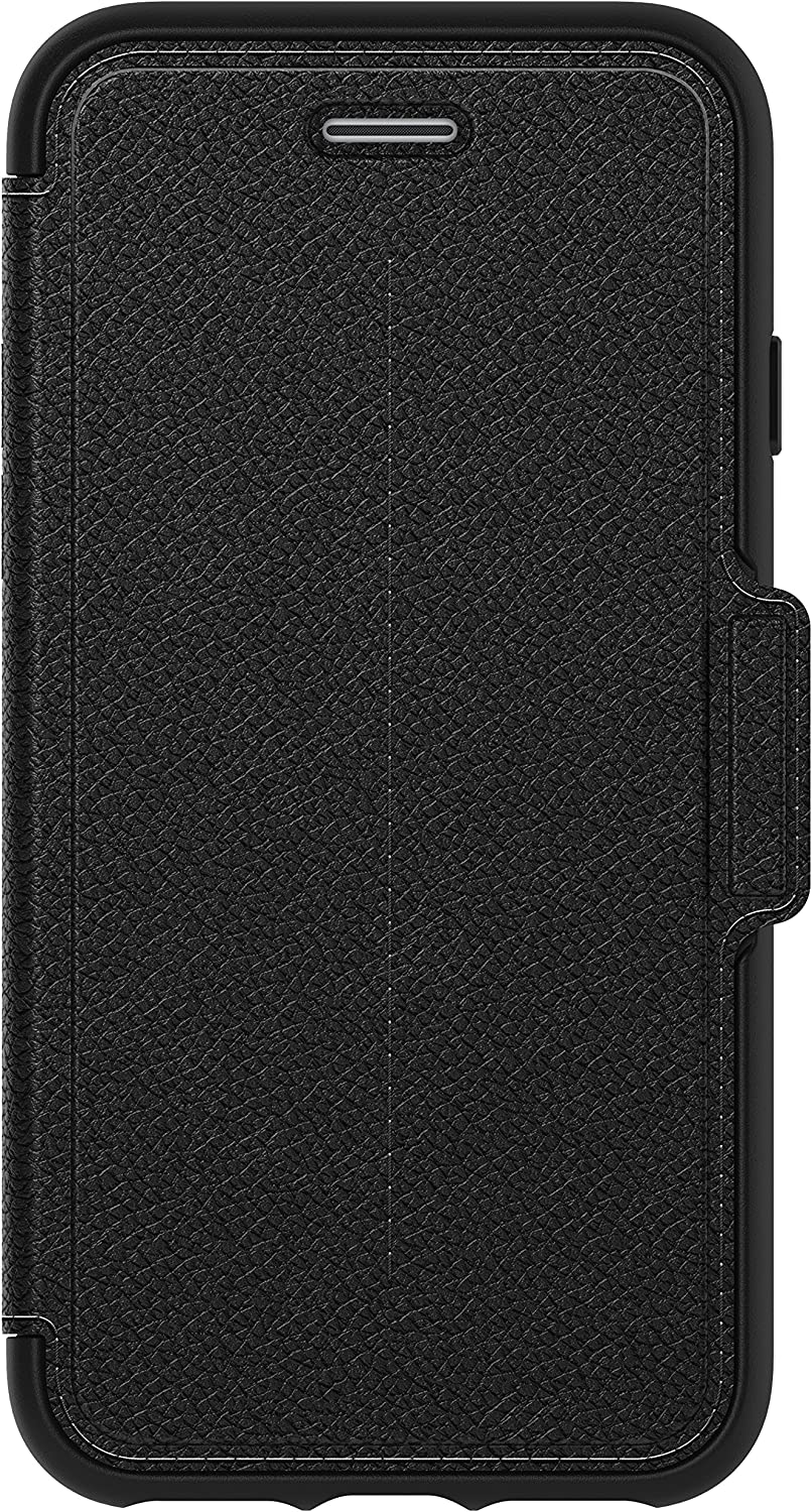 OtterBox STRADA SERIES Case for iPhone SE (2nd gen - 2020) and iPhone 8/7 (NOT PLUS) - Retail Packaging - SHADOW (BLACK/PEWTER) (77-57986)