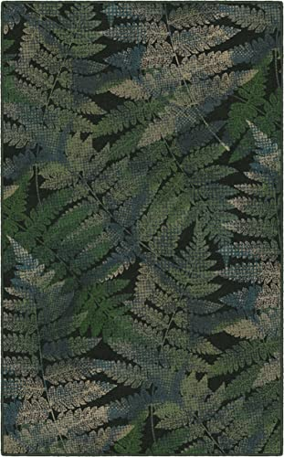 Brumlow Mills Ferns Green Leaf Area Rug, 7 6 x 10