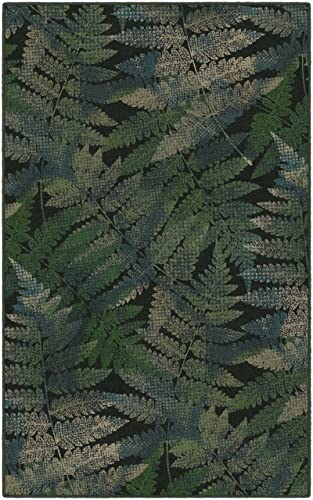 Brumlow Mills Ferns Green Leaf Area Rug, 5 x 8