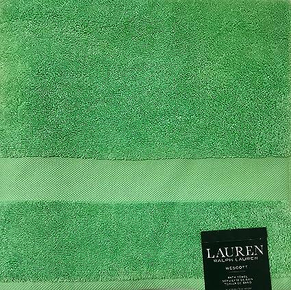 Ralph Lauren Wescott - Toalla de baño, color verde isleña, 76 x 142 cm