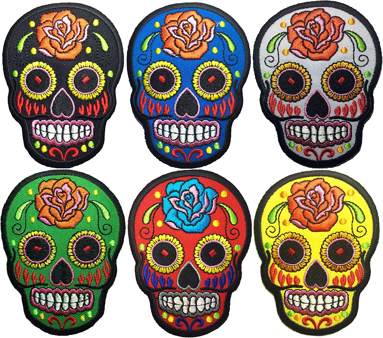 Sugar Daimond Skull Mexican Día de Muertos Day of Dead Clothing Iron on Patch