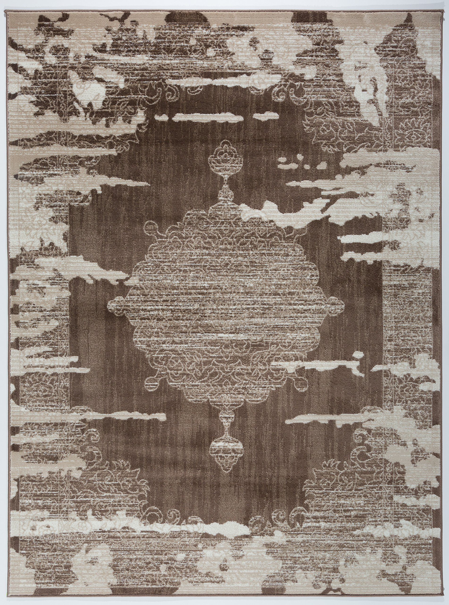 Antep Rugs Zeugma Collection Vintage Area Rug 288-Brown Beige 7'10 X 10'
