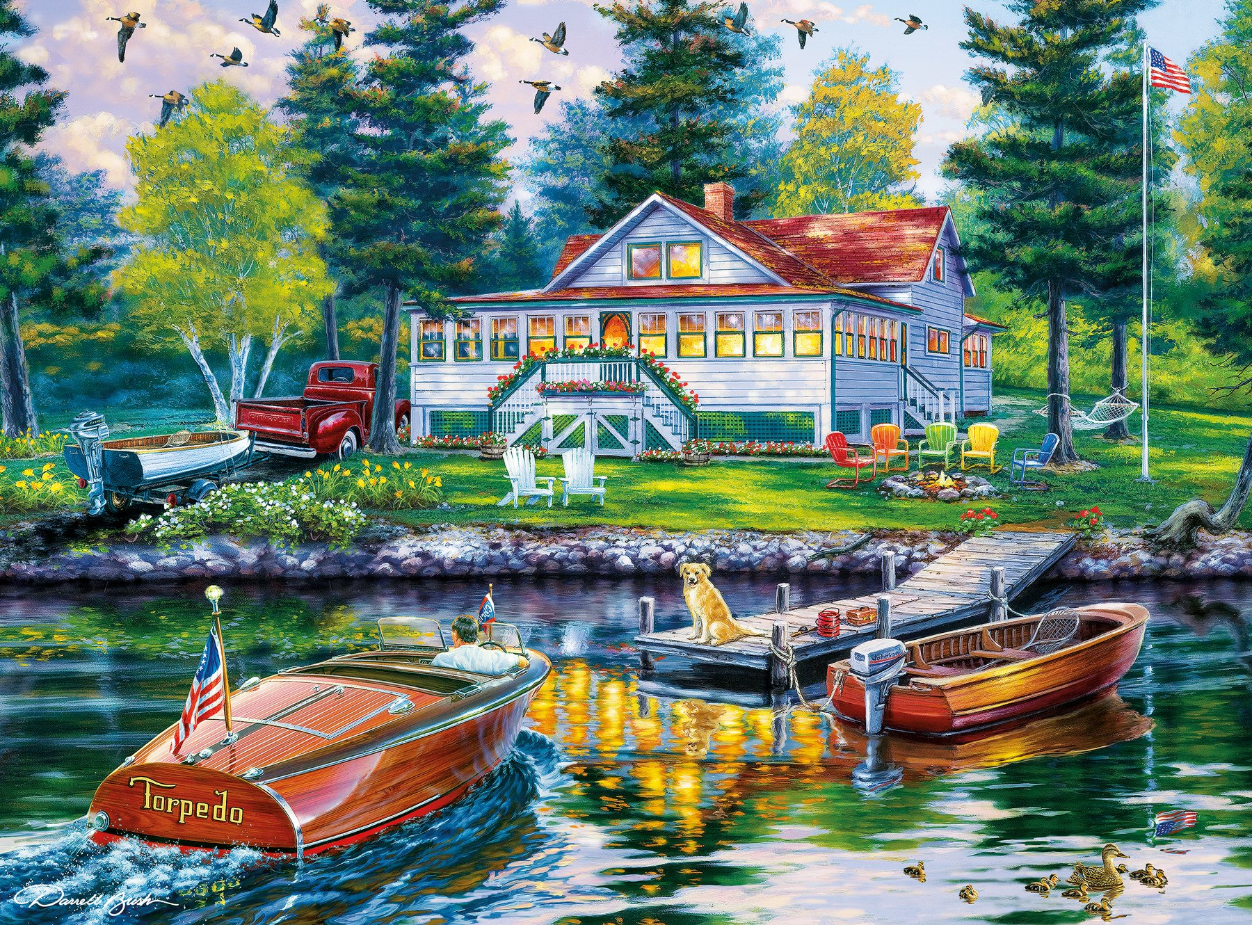 Buffalo Games - Darrell Bush - Cottage Retreat - 1000 Piece Jigsaw Puzzle