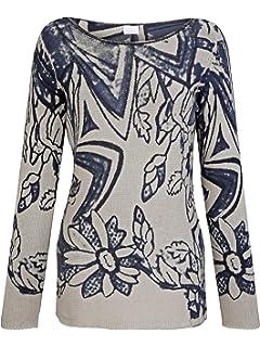 Alba Moda Pullover langarm pullover floral figurbetont normal elastisch