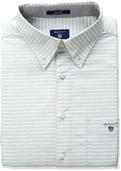 b32f5e12805154 Gant Men s Horizontal Stripe Shirt  Amazon.in  Clothing   Accessories