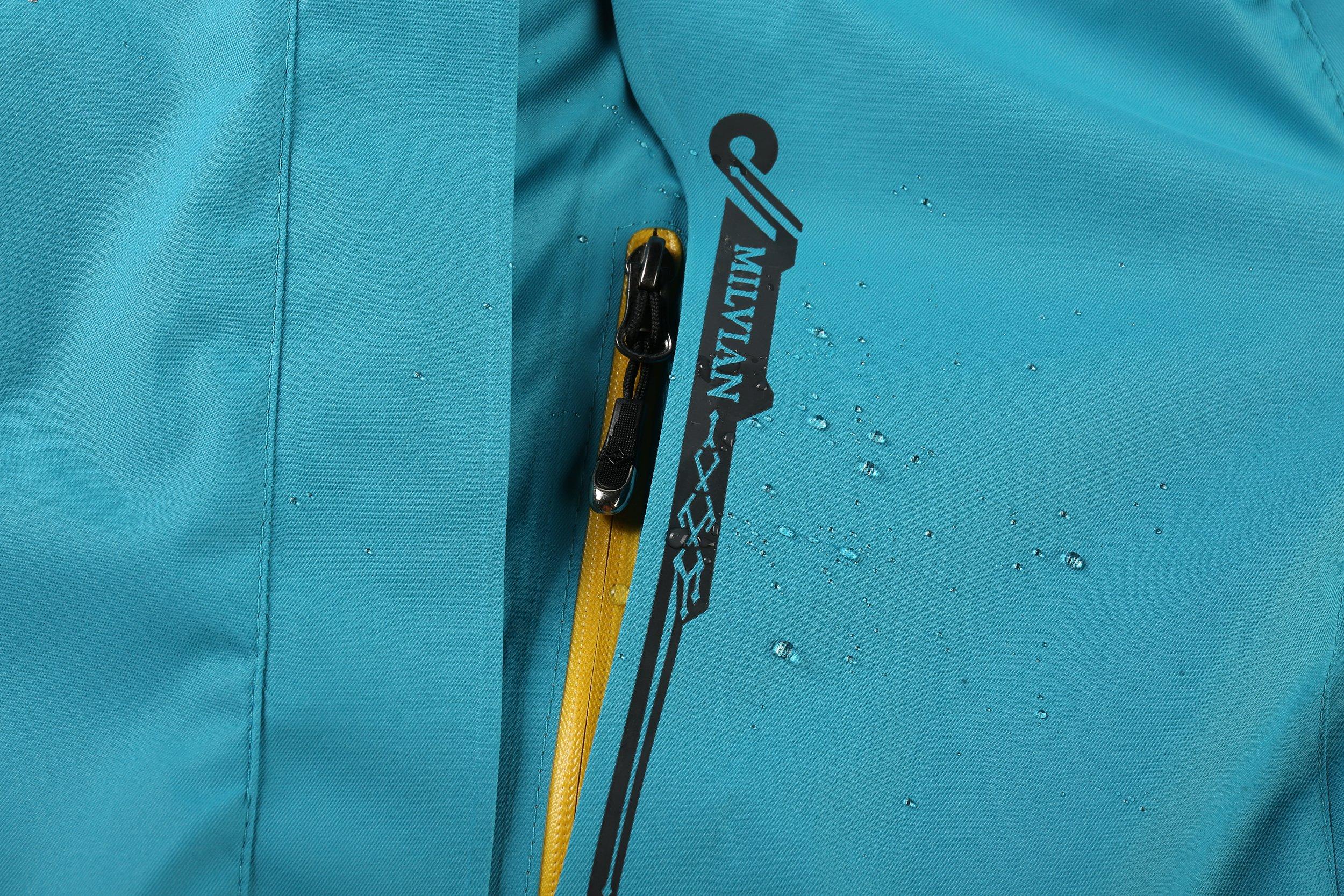 Women Hooded Front-zipper Multifunctional Waterproof Lightweight Hiking Climbing Raincoat Outdoor Sports Jackets&Pants…