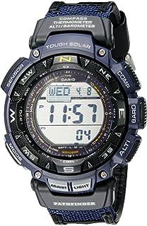 b6c1bec58159 Casio Men s Pathfinder Triple Sensor Multi-Function Sport Watch Blue Nylon  Strap