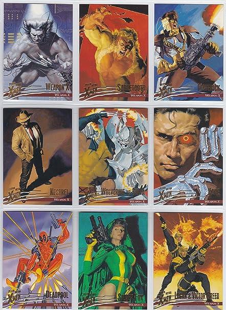 1995 Marvel Fleer Ultra X-Men Complete 150 Card Base Set Deadpool Wolverine