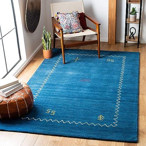 Safavieh Himalaya Collection HIM583A Handmade Blue Premium Wool Area Rug 3' x 5'
