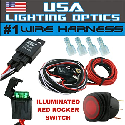 amazon com 1 fog light 40 amp universal wiring harness on the Fog Light Wiring without Relay 1 fog light 40 amp universal wiring harness on the market! comes w