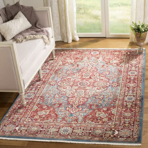 Safavieh Kashan Collection KSN305A Traditional Blue and Red Area Rug 8' x 10'