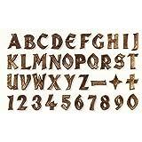 Grabschmuck-aus-Bronze Bronzebuchstaben/Grabschrift