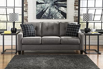 Magnificent Amazon Com Brindon Contemporary Fiber Charcoal Color Sofa Download Free Architecture Designs Scobabritishbridgeorg