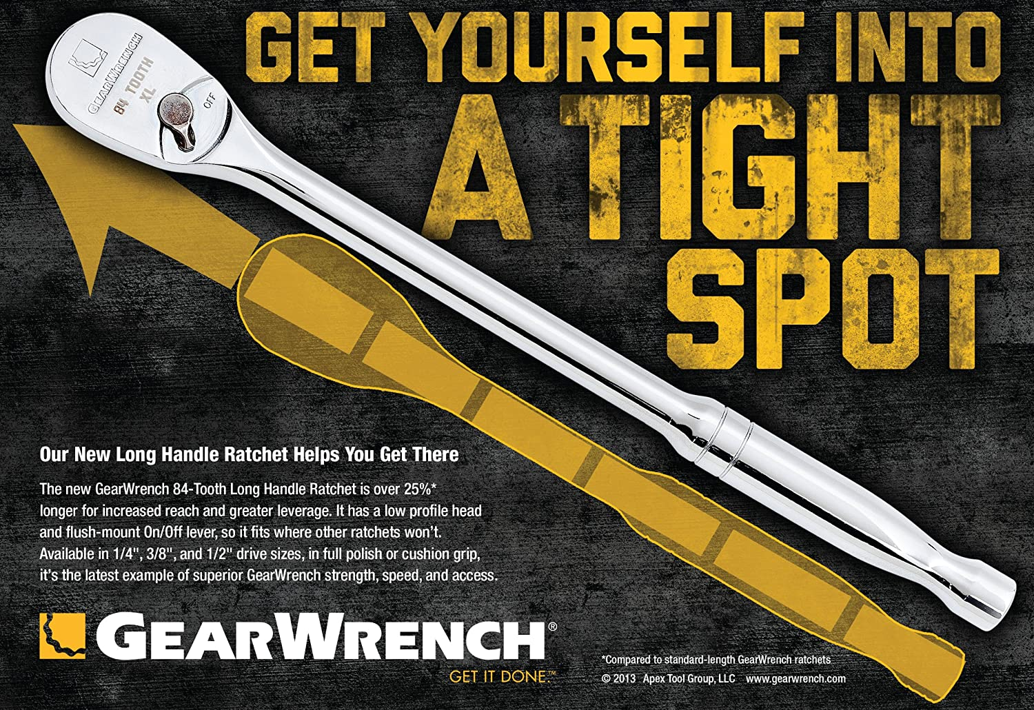 Gearwrench 81303F Drive Ratchet with Cushion Grip 1//2