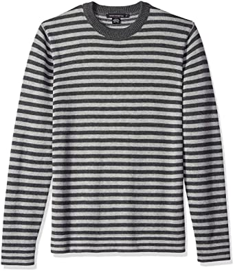 bf61ff9d4d957 Amazon.com  French Connection Men s Long Sleeve Stripe Crew Neck Sweater   Clothing