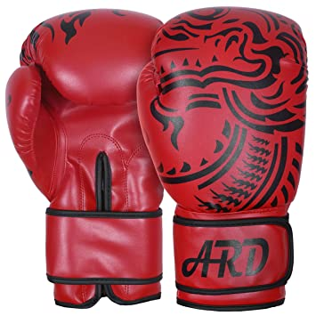 amazon 350ml red ard boxing gloves art leather punch training