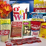 Get Well Gift Box Basket - For Cold / Flu / Illness - Over 2.5 Pounds of Care, Concern, and Love - Great Care Package - Send a Smile Today!
