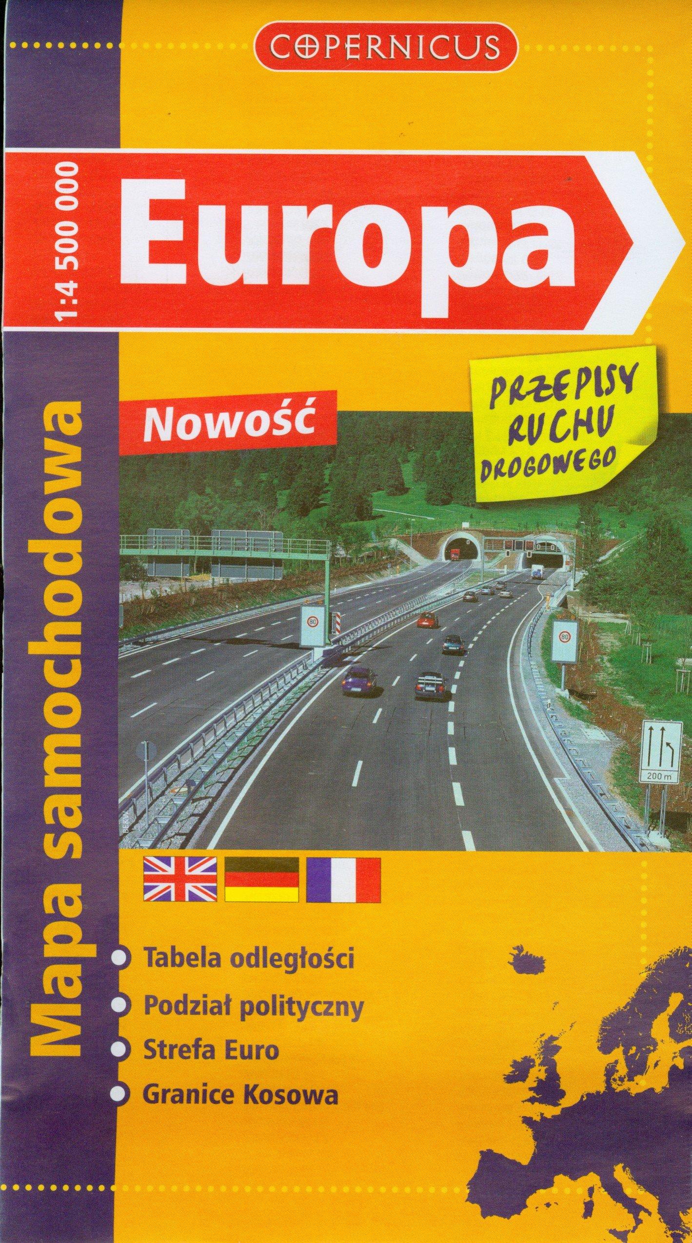 Amazon Fr Europa Mapa Samochodowa Livres