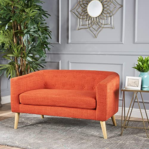 Christopher Knight Home Bridie Loveseat, Muted Orange
