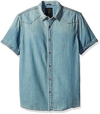fd8a240c38 GUESS Men s Western Slim Fit Denim Shirt at Amazon Men s Clothing store