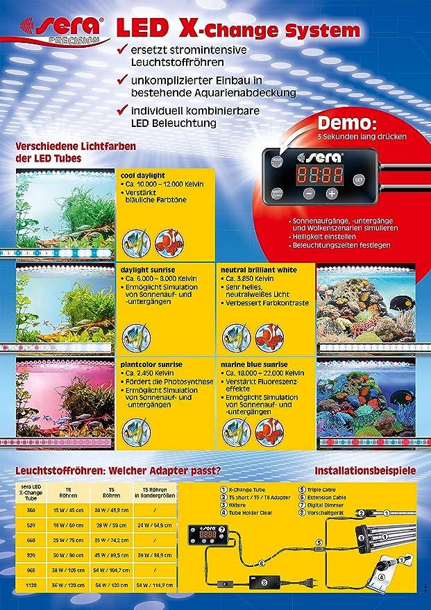 Einfach Sera Led Adapter Halterungen Für Sera Led Tubes ZuverläSsige Leistung Beleuchtung & Abdeckungen Fische & Aquarien