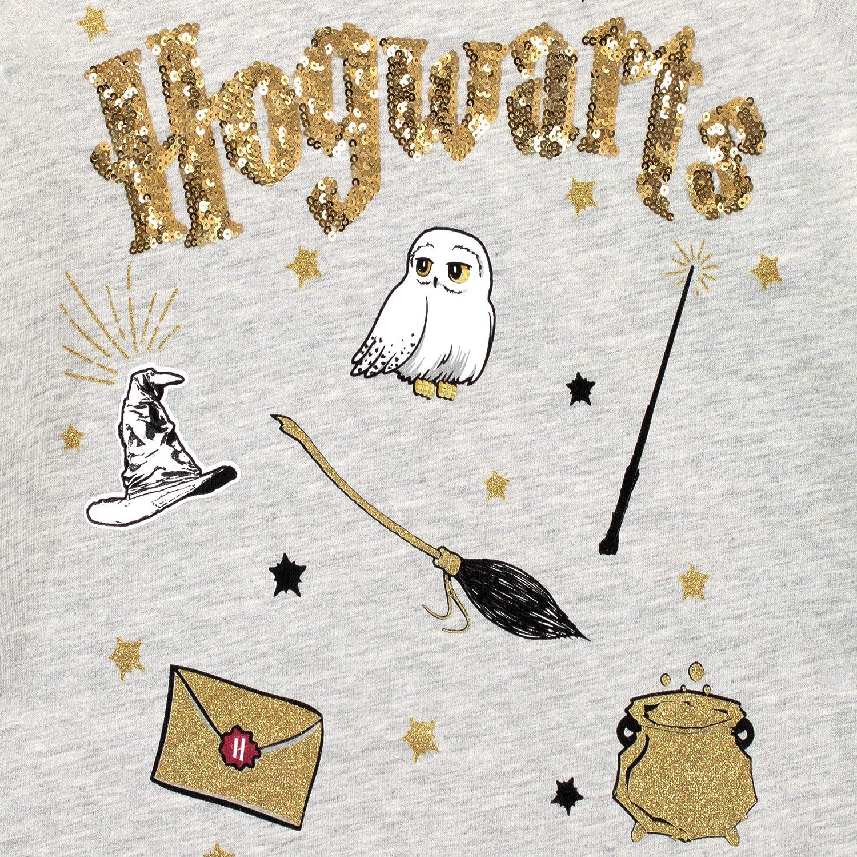 Grey Top T-Shirt for Girls Hogwarts Harry Potter