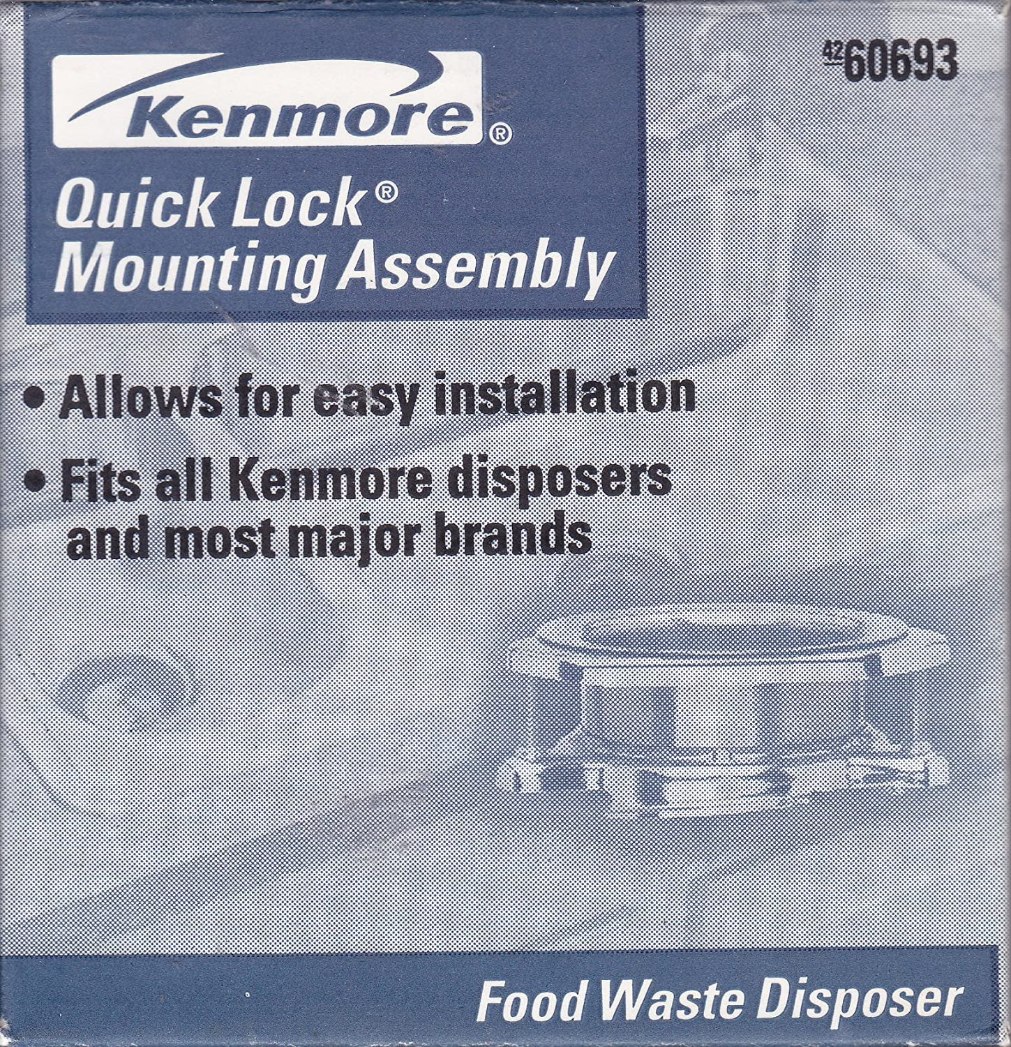 Kenmore Disposer QuickLock Mount Assembly 60693