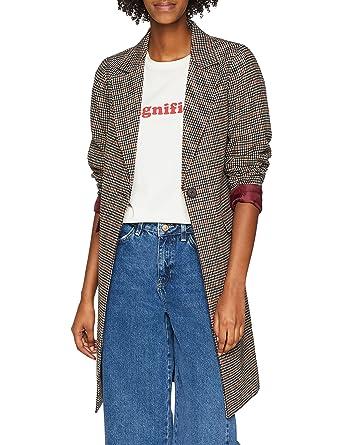 New Look Damen Mantel Dogtooth Check  Amazon.de  Bekleidung ba005e1334